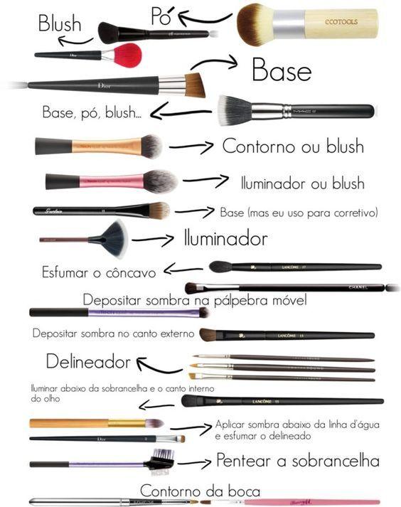 Para que serve cada pincel de maquiagem?: