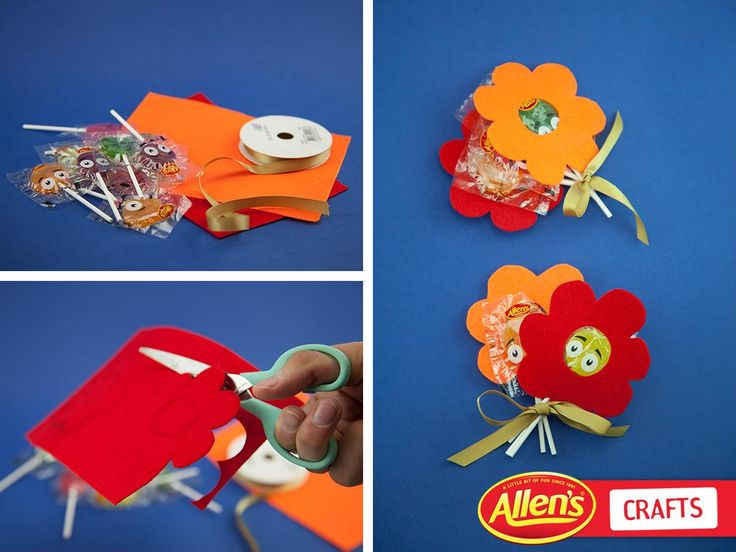 Give a bouquet a tasty twist with ALLEN'S Lollipops