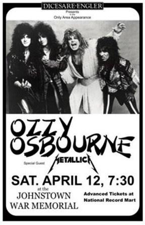 Ozzy Osbourne feat. Metallica Concert Poster Print