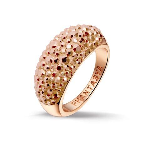 Phantasya Swarovski Elements Medium Band Ring Rose