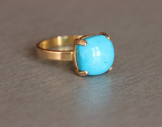 Hey, I found this really awesome Etsy listing at https://www.etsy.com/listing/236415450/gold-turquoise-ring-18k-gold-ring-blue