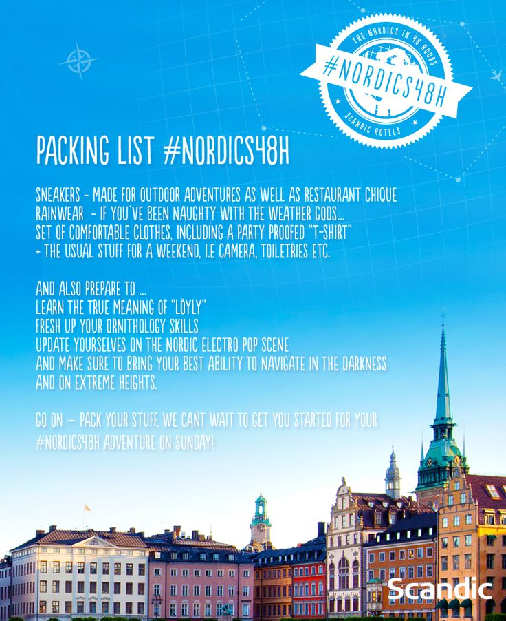 In preparation for the #nordics48h journey, Lloyd & Yaya from @hloblog got this list of things to pack and a plain ticket. The rest is secretly planned by us.