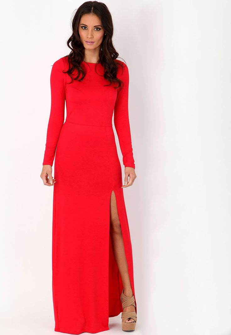 long-sleeve-casual-maxi-dress- | Maxi dress with sleeves ...