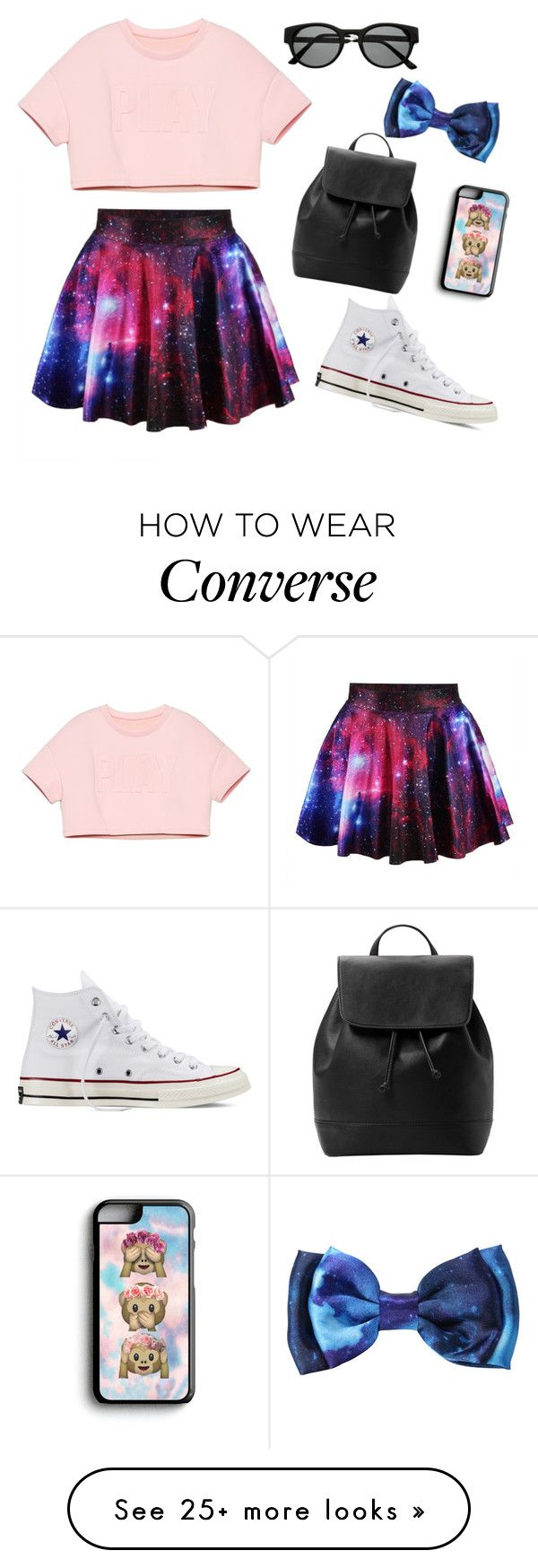 """""""My First Polyvore Outfit"""" by livia-beatriz on Polyvore featuring moda, Converse, MANGO, Samsung y Retrò"""