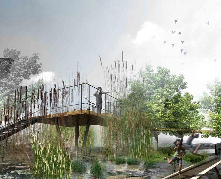 Museum of Nature and Science Winning Proposal / Schwartz Besnosoff + SO Architecture Jeux de hauteurs et belvédère dans la phytorémédiation ?