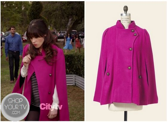 Shop Your Tv: New Girl: Season 2 Episode 18 Jess's Pink Cape Coat