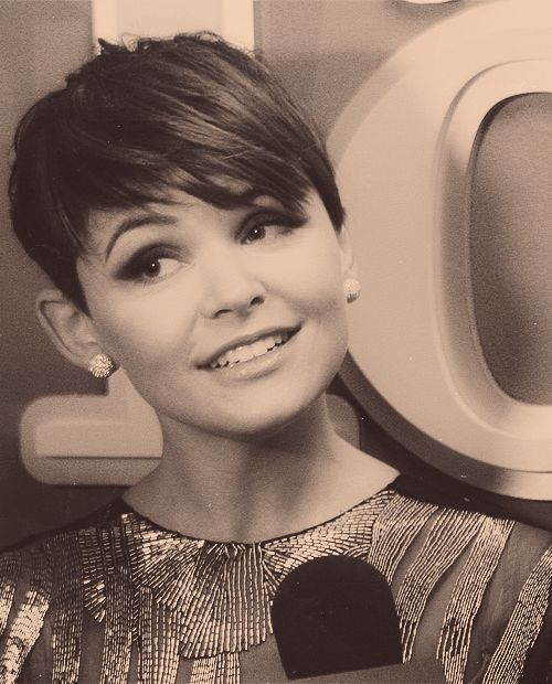 Ginnifer Goodwin short hair...so cute if I ever had the nerve to chop it all off