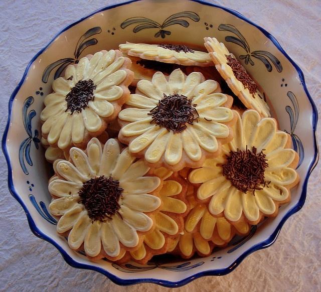 Zonnebloem koekjes | Sunflowers cookies #bakken