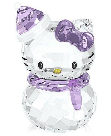 Hello Kitty Snowman Swarovski Collectible Figurine