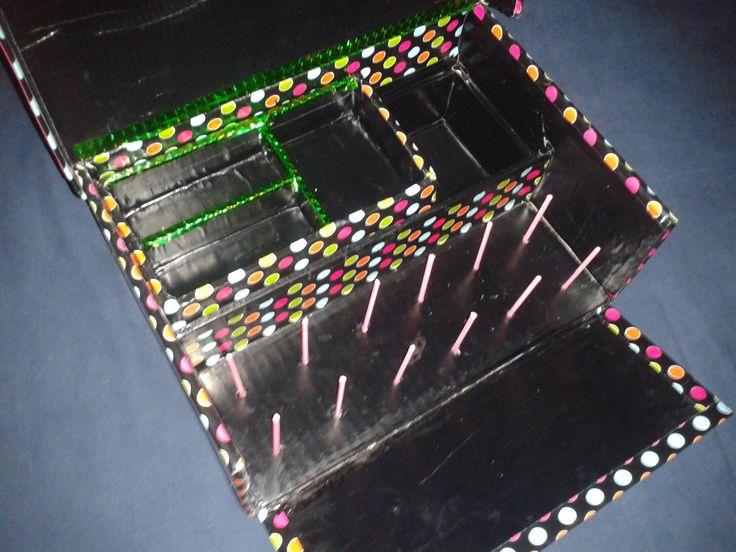 Costurero con caja de zapatos organiza o pinterest - Manualidades con cajas de zapatos ...