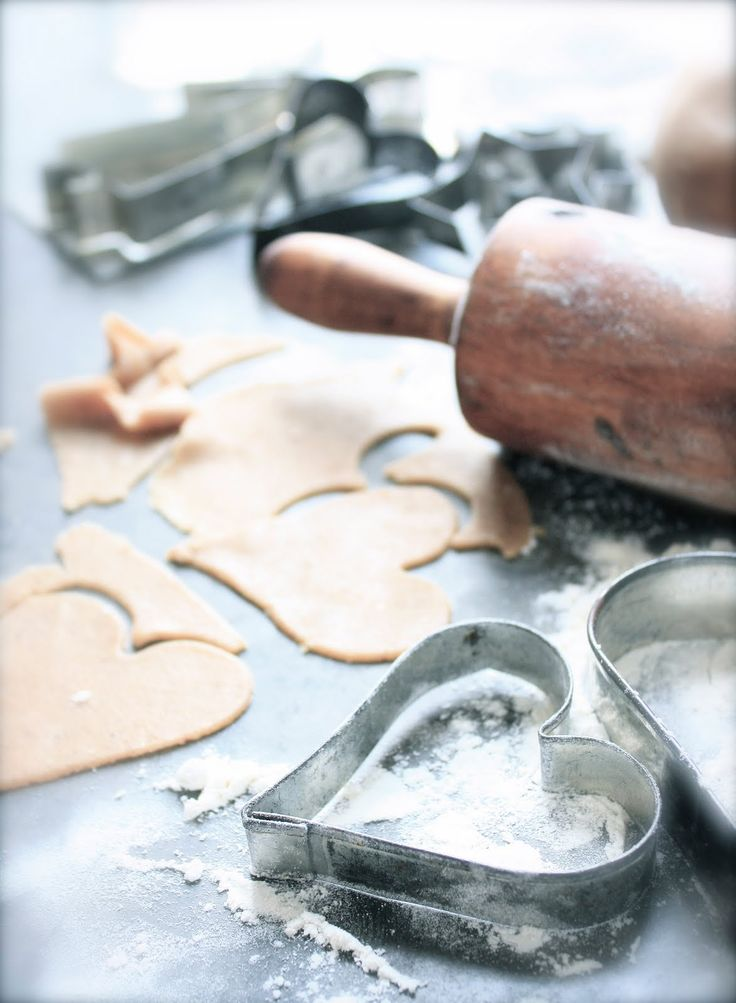 Rolling pin, cookie cutter, hearts  reminds me of my mom...
