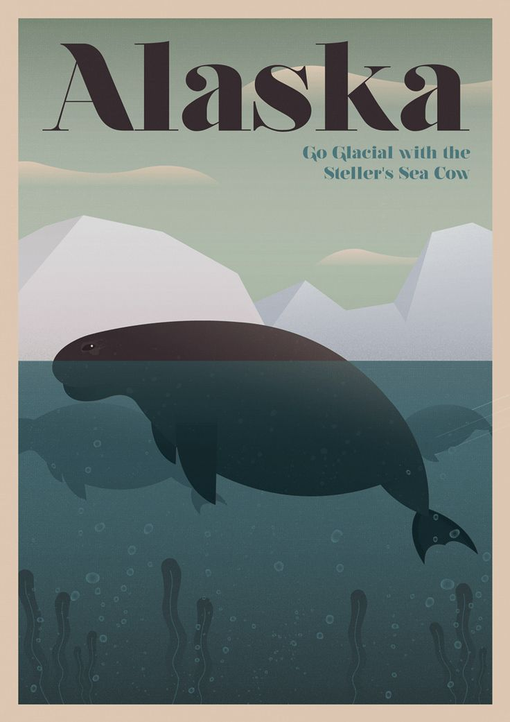 Nostalgic tourism posters highlight the wildlife you'll never, ever see - The Washington Post