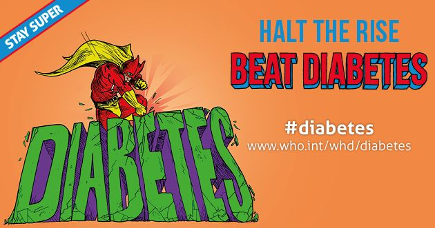 World Health Day 2016 poster: Beat diabetes