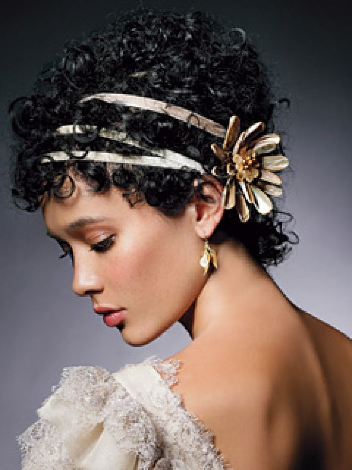Short Curly Hair With A Touch Of Class For Any Wedding But