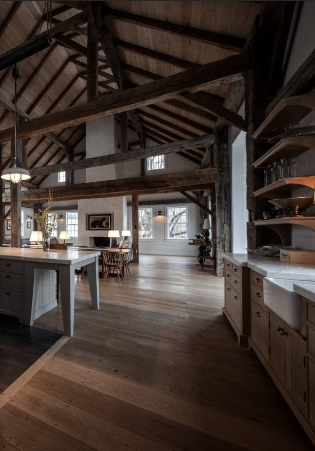 Living Room - like exposed beams (not dark)