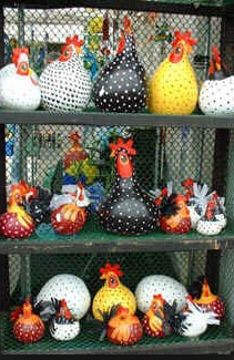 Gourd chickens.