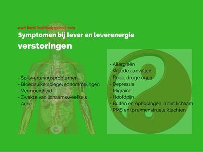 Klik hier voor de meest voorkomende symptomen bij lever en leverenergie verstoringen: http://www.finestfood4bodyandsoul.com/leverenergie-algehele-functie-natuurlijke-reiniging-symptomenklachten-bij-verstoringen-en-voeding.html #leveruitbalanssymptomen #leverenergieuitbalans #FF4BS
