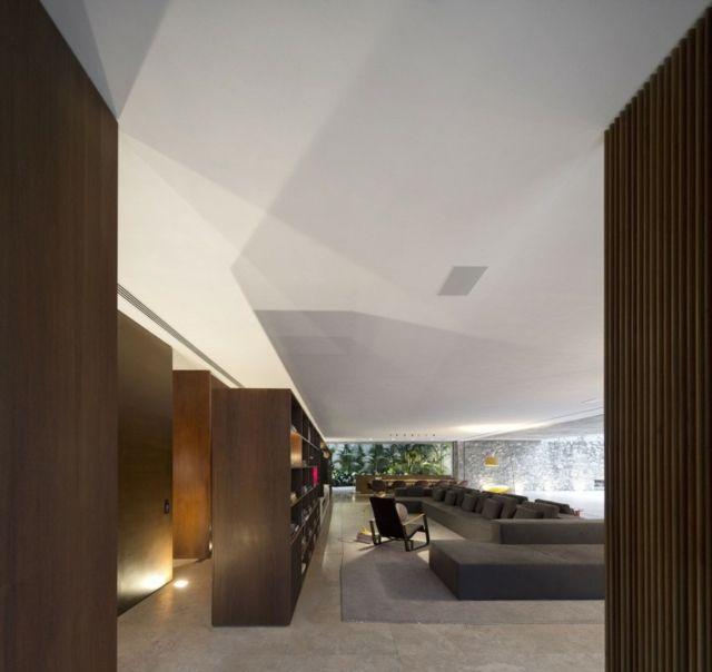 moderne Einrichtung Haus Beton Holz Wohnbereich geräumig Beton - interieur bodenbelag aus beton haus design bilder