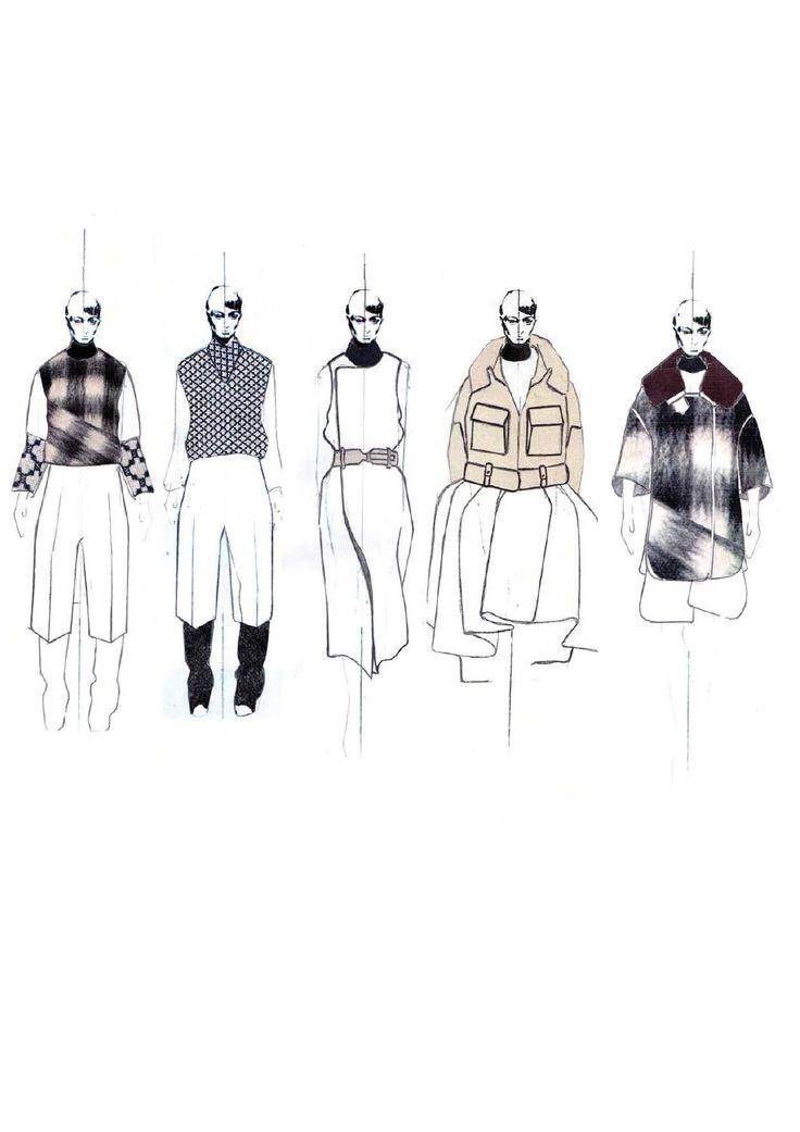 Fashion Design Portfolio - lineup illustrations; fashion drawings; fashion sketchbook // Andrew Voss