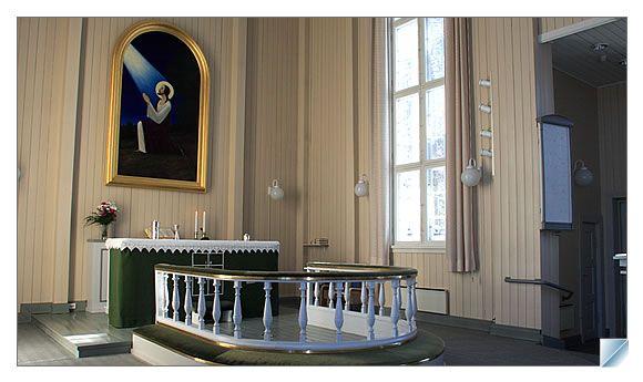 The church of Taivalkoski, Lapland, Finland
