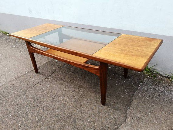 1960s G Plan Teak And Glass Top Coffee Table Vintage Retro Mid Century Coffee Table Solid Coffee Table Coffee Table Design