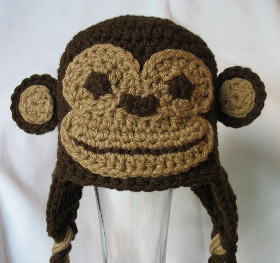 Monkey Hat Newborn Monkey Hat Toddler Monkey by DeesCozyCreations