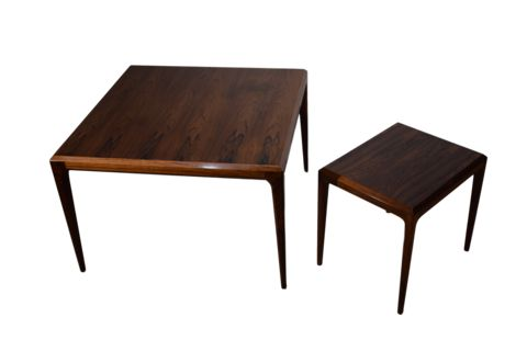 A pair of rosewood tables by Johannes Andersen, CFC Silkeborg