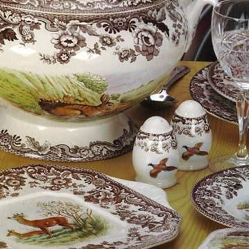 Spode Woodland a veritable feast of fall images dogs ducks fish and fowl. & 46 best Spode Woodland images on Pinterest | Thanksgiving table ...