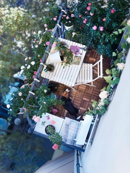 ikea balcony - small spaces