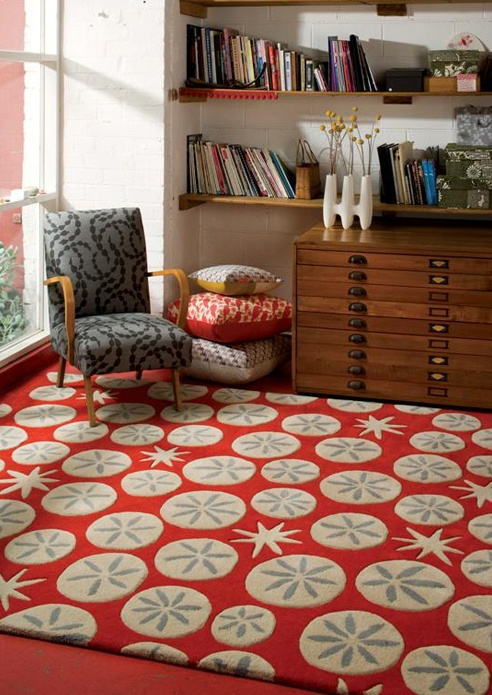 I love the rug, the chair, the flat files. I could live here!