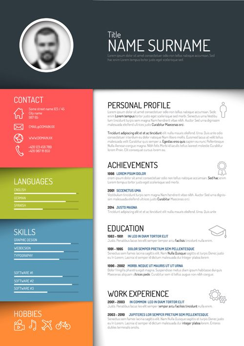 design resume template free prot