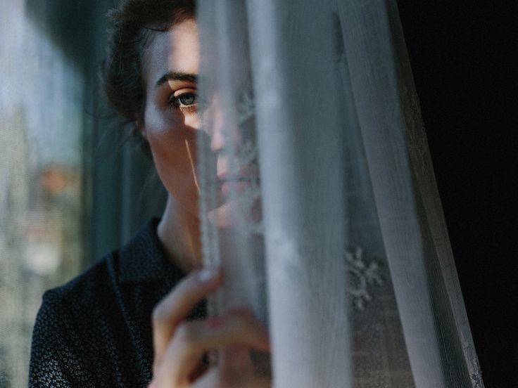 Woman / Curtain / Color Photography by Nirav Patel