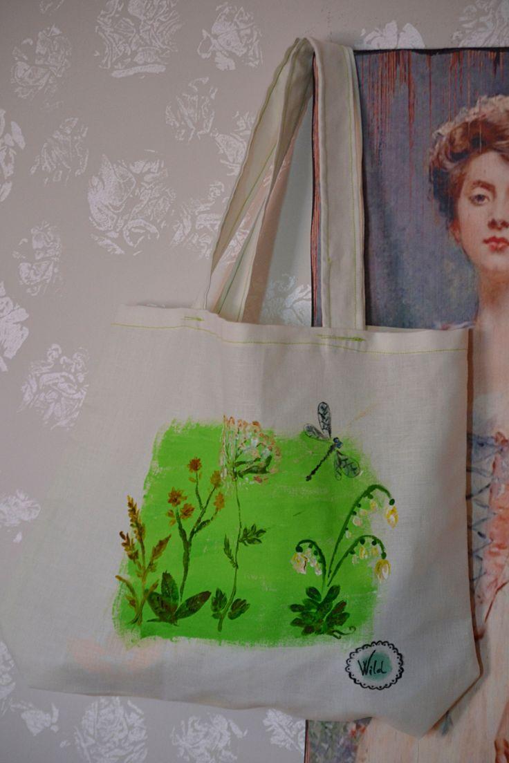 Textile bag - wild herbs