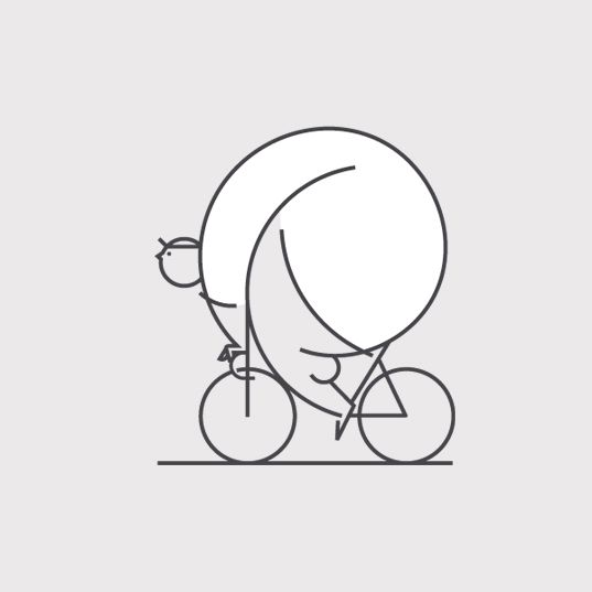 Sports - Man on bike. >>> Just a few well drawn lines and this is what you can get. Man on bike - Or maybe, Big man on bike or just man on Little bike. Whatever, he's very rounded! He could make a great animation character - that would be fun?! Thanks to Helen for sharing this pin. MAKETRAX.net - Bicycle ART