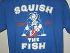 Throwback patriots squish the fish t shirt new england for Squish the fish