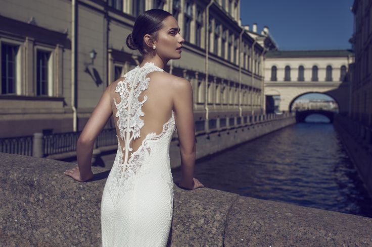 Nurit Hen Gorgeouse  Back Wedding Dress | https://www.fabmood.com/nurit-hen-wedding-dresses-white-heart-bridal #bridal #weddingdresses #weddinggown