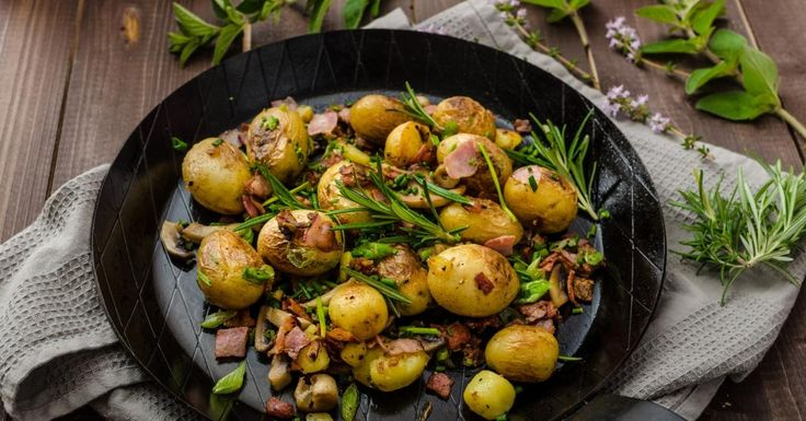 Les vedettes de la soirée...les pommes de terre grelot et le bacon