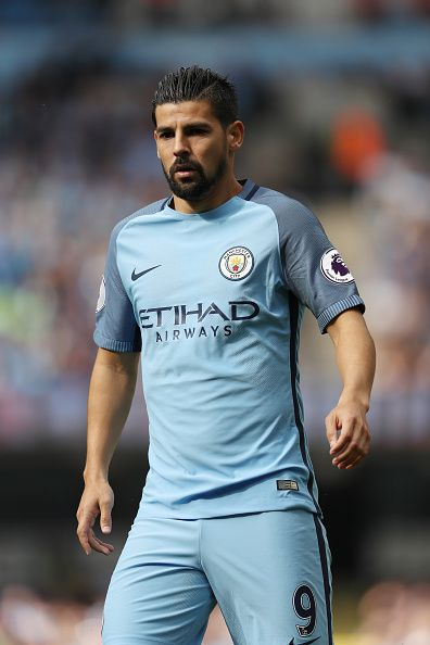 Nolito of Manchester City during the Premier League match between Manchester City and West Ham United at Etihad Stadium on August 27 2016 in...