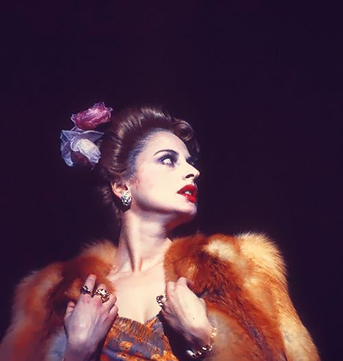"""EVITA"" starring Patti LuPone. Dressed for her Rainbow Tour"
