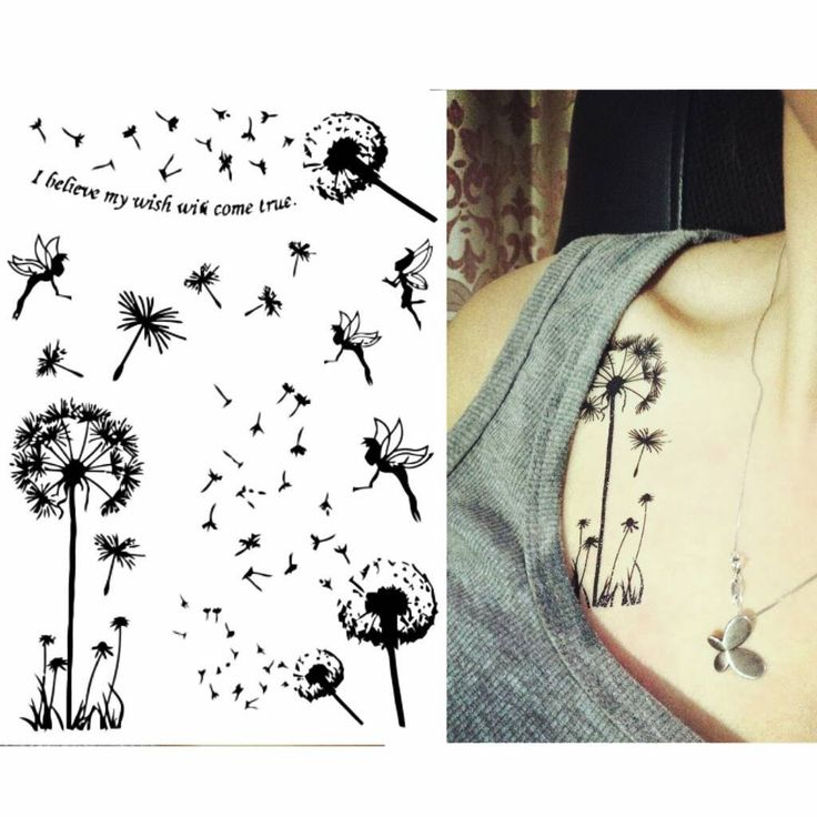 17 best ideas about dandelion tattoos on pinterest for How to make a fake tattoo look real