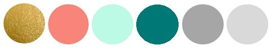possible wedding pallet? gold, dark blush, tiffany blue, dark teal, and various grays. beautiful!