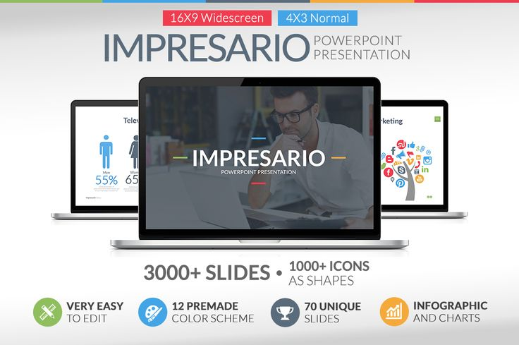Impresario Powerpoint Template by Jetfabrik on Creative Market