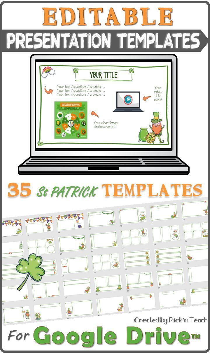 Saint Patrick S Day Presentation Templates For Teachers And Students En 2020