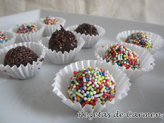 Brigadeiros de chocolate en el blog de las Rezetas de Carmen #nestlebloggers #recetas
