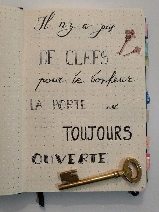 Belle citation pour mon bullet journal français