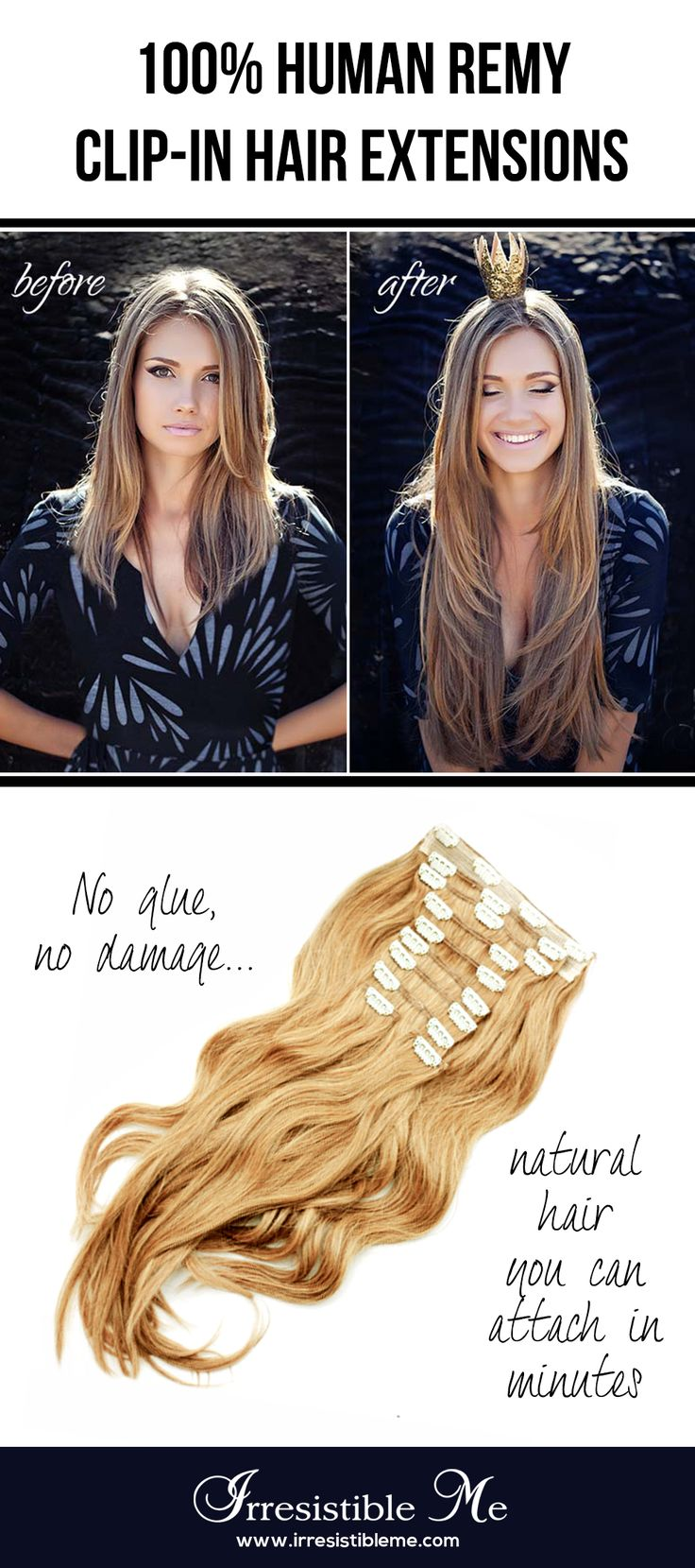 Best 25 best human hair extensions ideas on pinterest best get long hair in less than 5 minutes with irresistible me 100 human remy clip in hair extensions the before and after change is totally awesome and nobody pmusecretfo Images