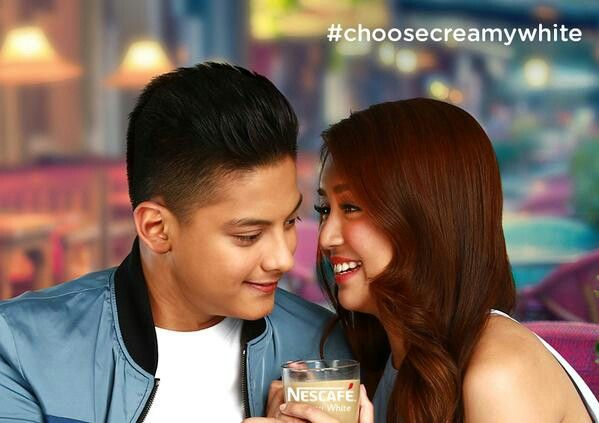 This is the pretty Kathryn Bernardo and the handsome Daniel Padilla smiling for the camera while doing a commercial endorsement photo shoot for Nescafe Creamy White. Indeed, KathNiel is my favourite Kapamilya love team, amazing Star Magic talents, and amazing commercial models. Nescafe Creamy White is one of my favourite Filipino brands of coffee mix. #KathrynBernardo #TeenQueen #DanielPadilla #KathNiel #KathNielBernaDilla #NescafePH #NescafeCreamyWhite #chooseCreamyWhite