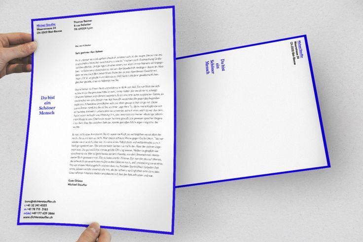 Identité graphique pour Michael Stauffer, écrivain suisse. #typographie #identité visuelle #graphisme