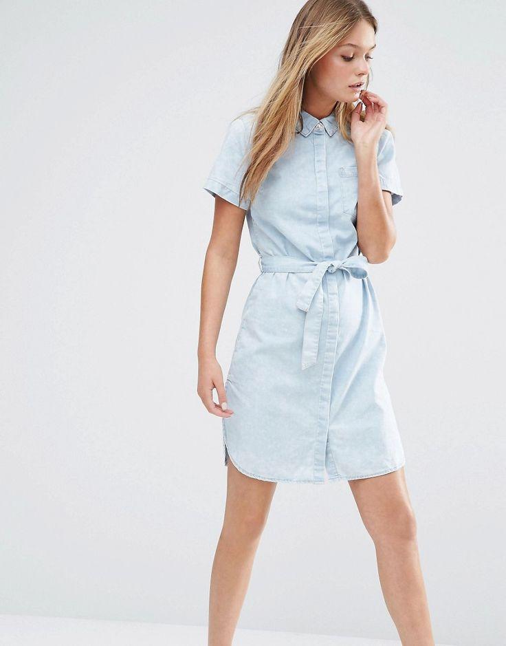 New+Look+Denim+Mini+Shirt+Dress