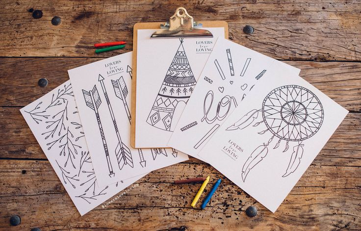 Freebie: coloring for kids in your wedding
